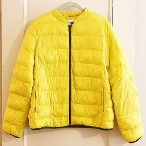NWOT Old Navy Yellow Lightweight Puffer Jacket